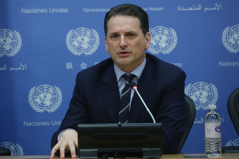 Pierre Krahenbuhl, commissioner general for UNRWA, rejected the allegations made in the report [Mohammed Elshamy/Anadolu]