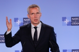 Jens Stoltenberg said NATO has been asking Russia to comply with the treaty [File: Olivier Hoslet/EPA-EFE]