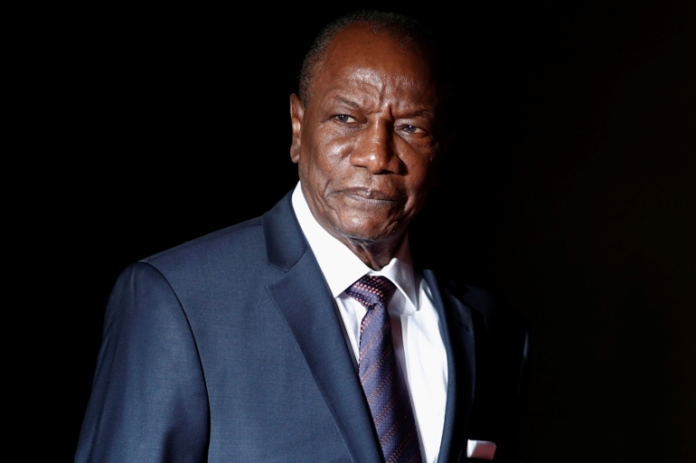 Alpha Conde has been president of Guinea since December 2010 and his opponents fear he may attempt to cling to power by changing the constitution [Reuters]