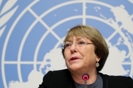 The United Nations' Michelle Bachelet says, 'I am deeply worried about such dangerous rhetoric by political leaders, which in some cases may amount to incitement to hostility, discrimination or violence' [File: Denis Balibouse/Reuters]