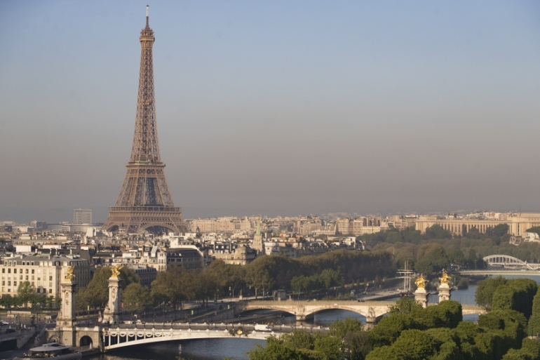 The Eiffel Tower dominates the Paris skyline [File: Ian Langsdon/EPA]