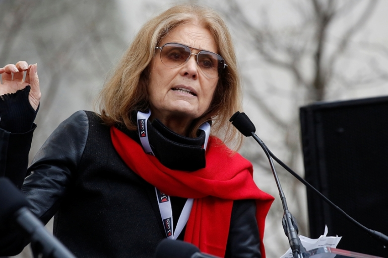 Framing the debate over abortion as 'pro-life' versus 'pro-choice' is misleading in the view of Gloria Steinem, who believes the issue is really about control [File: Shannon Stapleton/Reuters]