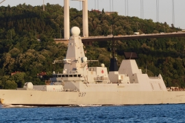 The UK said HMS Duncan is transiting to the region to ensure the country maintains continuous maritime security [File: Yoruk Isik/Reuters]
