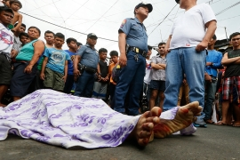 Human rights advocates say as many as 27,000 people were killed in the drug war as of mid-2019 - including the victims killed by 'unknown gunmen' [File: Bullit Marquez/AP]