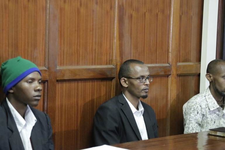Judge Francis Andayi accused the three men of belonging to al-Shabab, the Somalia-based armed group [Khalil Senosi/AP]