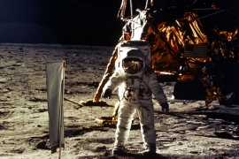Fifty years after the the Apollo 11 mission blasted off for the moon, competition is heating up to stake a claim to the lunar surface [File: NASA/Newsmakers/Getty Images]