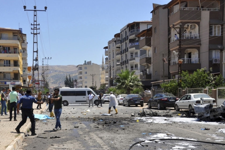 Anadolu reported that the blast site was less than a kilometre from the governor's office [DHA via AP]