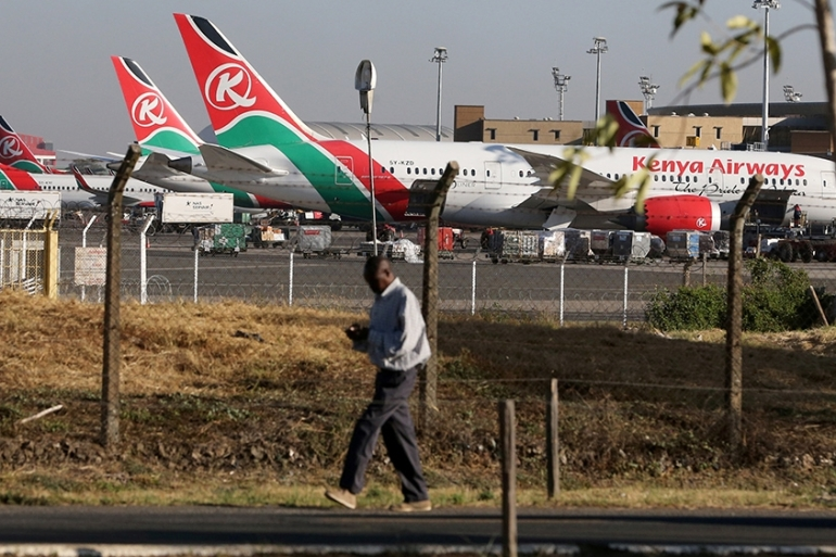 Kenya's parliament has voted to nationalise Kenya Airways, the country's main airline and one of sub-Saharan Africa's largest [Thomas Mukoya/Reuters]