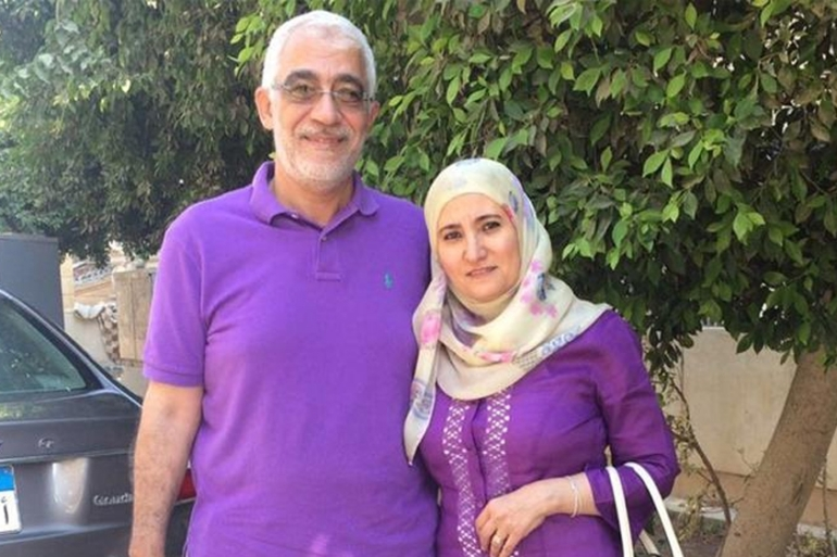 Ola al-Qaradawi and her husband Hosam Khalaf have been imprisoned without trial by Egypt since June 2017 [File: Reuters]