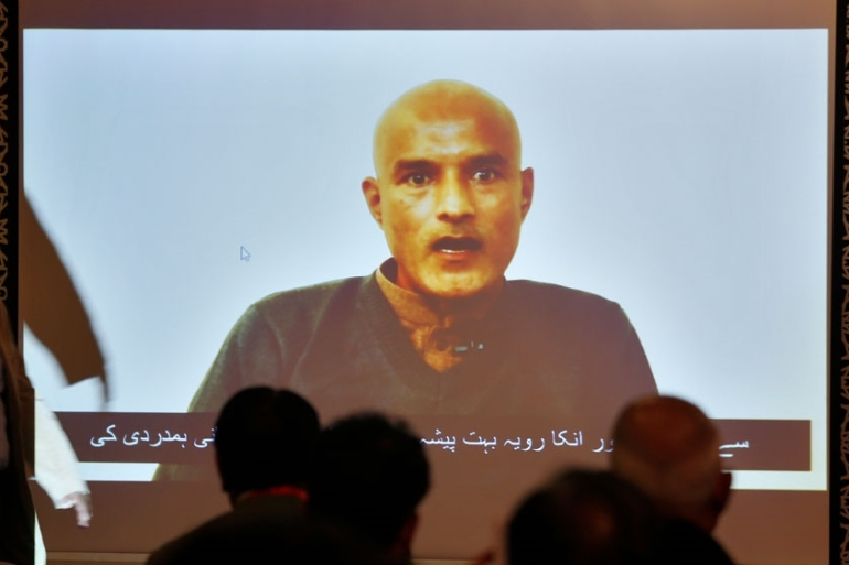 Jadhav, a former Indian navy officer, was arrested by Pakistani authorities in the southwest province of Balochistan in March 2016 and charged with espionage [File: Anjum Naveed/AP]