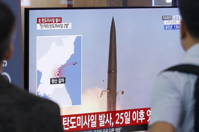 US officials have downplayed the threat of the launches to the US and its allies [Ahn Young-joon/AP]