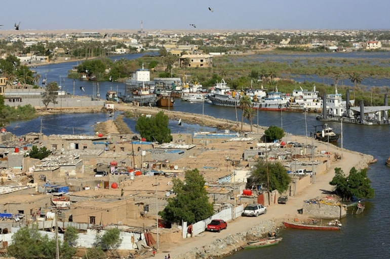 Around 40 percent of Basra's sewage is being dumped directly into the Shatt al-Arab [File: Nabil al-Jurani/AP]