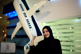 Dalia Yashar is one of the first Saudi students to register to become a commercial pilot [Hamad Mohammed/Reuters]
