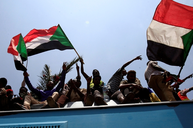 Pro-democracy protesters continued taking to the streets after al-Bashir's toppling [Mohamed Nureldin Abdallah/Reuters]