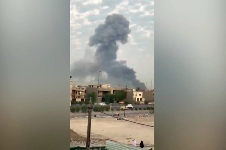 There have been at least three explosions at Iraqi Shia militia bases in the past month [Screen grab/Al Jazeera]