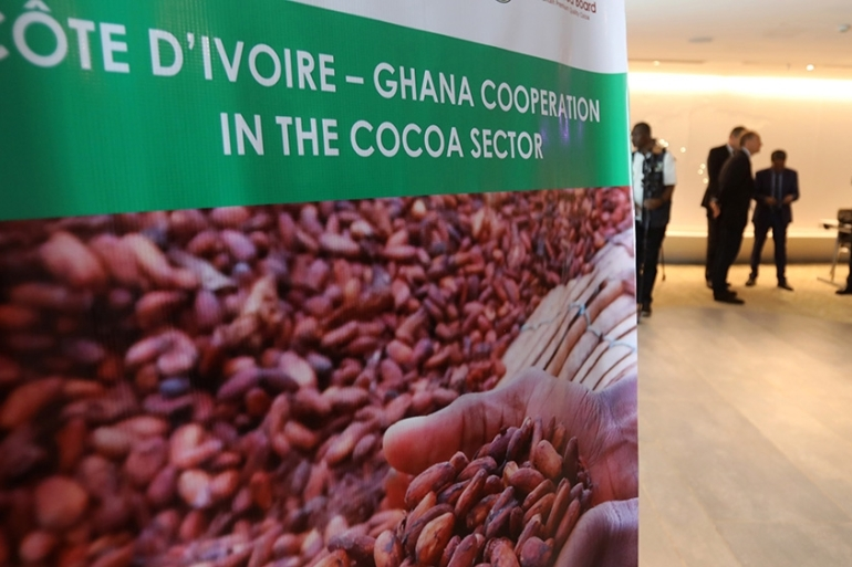 According to data from the Food and Agriculture Organization of the United Nations, the Ivory Coast is the largest producer of cocoa beans worldwide [Thierry Gouegnon/Reuters]