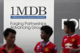The United States Department of Justice estimates $4.5bn was misappropriated from Malaysia's 1MDB between 2009 and 2014, including some of the funds that Goldman Sachs helped raise in bond sales [File: Olivia Harris/Reuters]