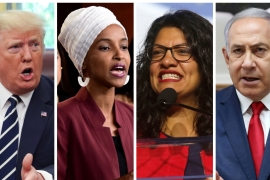 US President Donald Trump warned allowing Ilhan Omar and Rashida Tlaib into Israel would show 'great weakness' [Reuters]