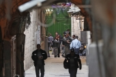 The police said in a statement that 50 arrests were made, but did not specify whether those arrested were Palestinians or Israelis and did not refer to any specific instances of violence [File: Ahmad Gharabli/AFP]