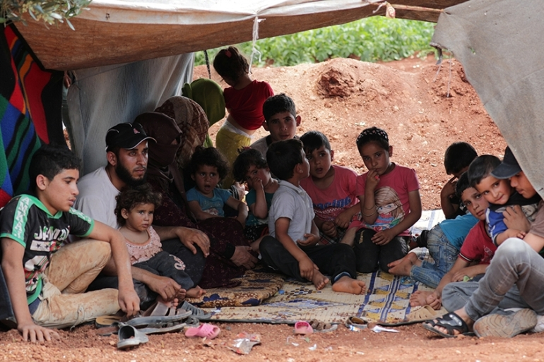 The UN has said that an estimated 400,000 people have been displaced within Idlib over the last 100 days [File: Khalil Ashawi/Reuters]