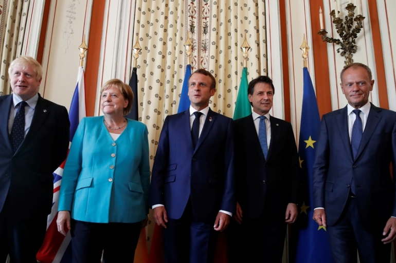 World leaders gather in Biarritz, France for the annual summit of the G7 nations [Christian Hartmann/ Reuters]