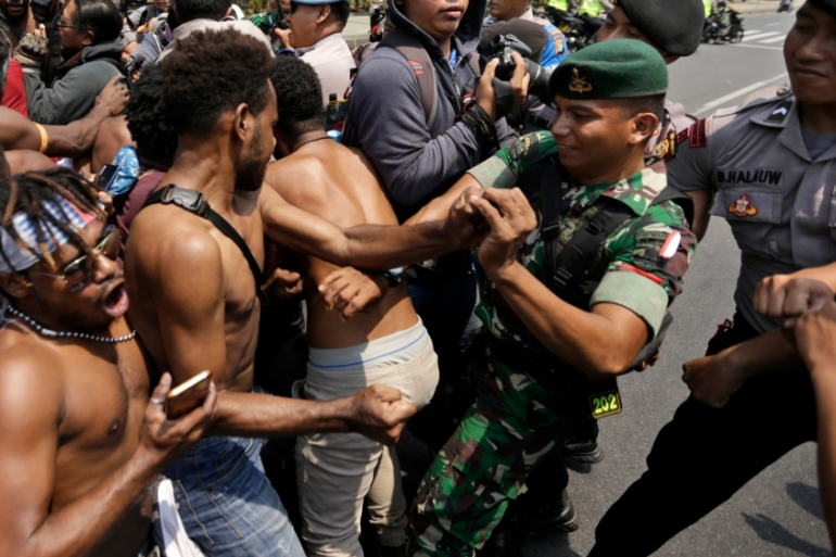 Protests have raged throughout the West Papua region for more than a week [File: Dita Alangkara/AP]