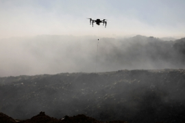 A drone controlled by Israeli soldiers [File: Amir Cohen/Reuters]