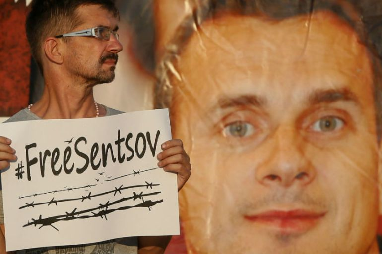 Officials said Sentsov had intended to carry out attacks against Russia's troops in Crimea [File: Valentyn Ogirenko/Reuters]