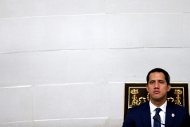 Venezuelan opposition leader Juan Guaido, who many nations have recognised as acting president, attends a session of the national assembly in Caracas, Venezuela Aug 20, 2019 [Manaure Quintero/Reuters]