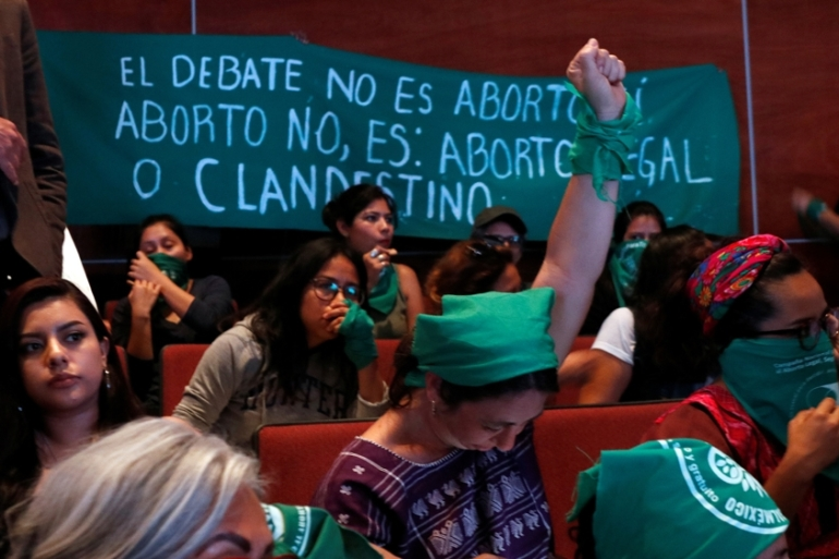 Official figures show more than 9,000 clandestine abortions occur in Oaxaca every year [Jose Luis Plata/Reuters]