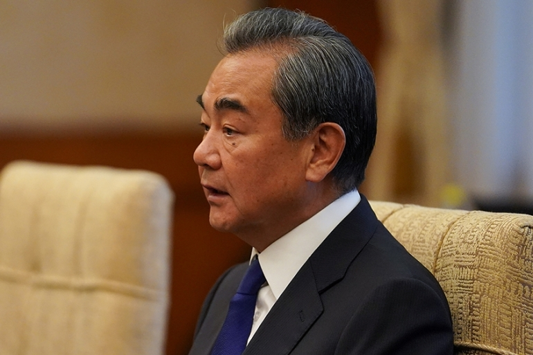 China's Wang Yi on Thursday urged the US to do more to get stalled nuclear talks with North Korea back on track [Andrea Verdelli/Reuters]