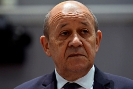 Le Drian said talks on Monday in Paris with Iranian officials focused on a possible guaranteed credit line for Tehran in exchange for oil [File: Johanna Geron/Reuters]