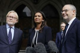 Gina Miller and members of her team requested a judicial review into Prime Minister Johnson's decision to suspend Parliament [Will Oliver/EPA-EFE]