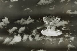 A mushroom cloud rises during Operation Crossroads nuclear weapons test on Bikini Atoll, Marshall Islands, in 1946 [File: Reuters]