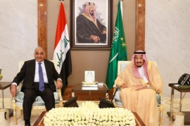 Adel Abdul Mahdi held talks with Saudi King Salman in Jeddah on September 25 [Iraqi prime minister's media office/Handout via Reuters]
