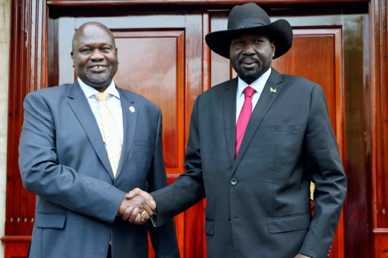 South Sudan's rebel chief Riek Machar, left, and President Salva Kiir, right, have disagreed over the creation of new states [File: Sam Mednick/The Associated Press]