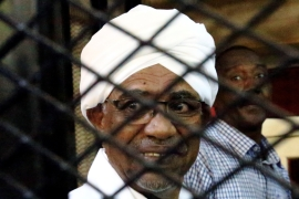 Al-Bashir has denied illicit possession of foreign currency and accepting gifts in an unofficial manner [File: Mohamed Nureldin Abdallah/Reuters]