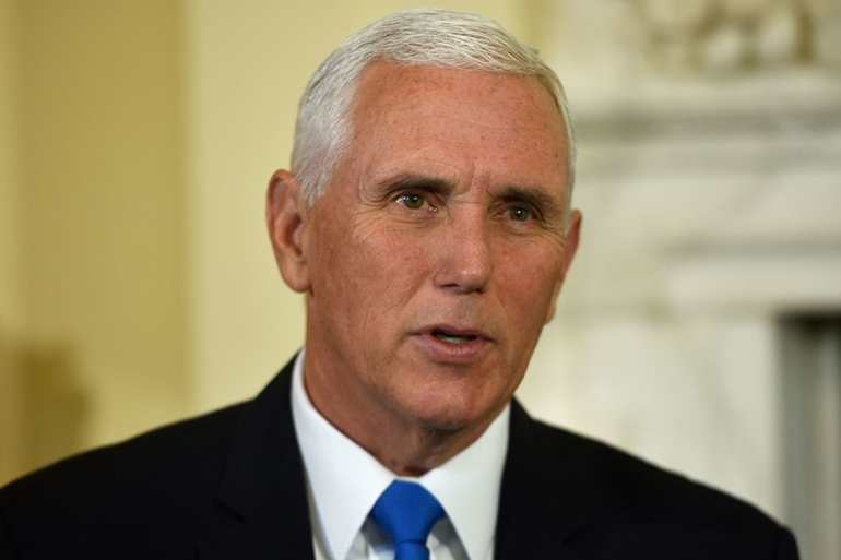 Pence says if Iran conducted Saturday's attacks to pressure President Donald Trump to back off his sanctions regime against Tehran, they will fail [File: Peter Summers/Reuters]