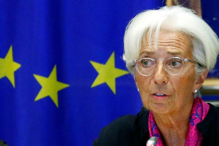 Incoming European Central Bank president Christine Lagarde said the bank could buy more green bonds as part of its monetary stimulus after a planned classification scheme for sustainable investments is introduced [Francois Lenoir/Reuters]