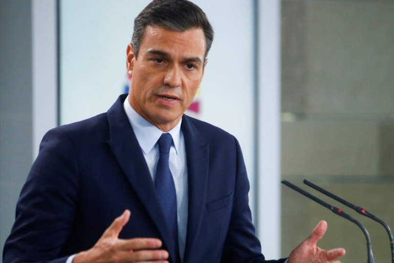 Acting Prime Minister Pedro Sanchez said late on Tuesday that Spain is bound to hold new elections on November 10 [Javier Barbancho/Reuters]