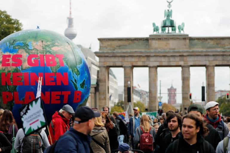 The Global Climate Strike movement has reached Berlin, where Green politics has been resurgent [Fabrizio Bensch/Reuters]