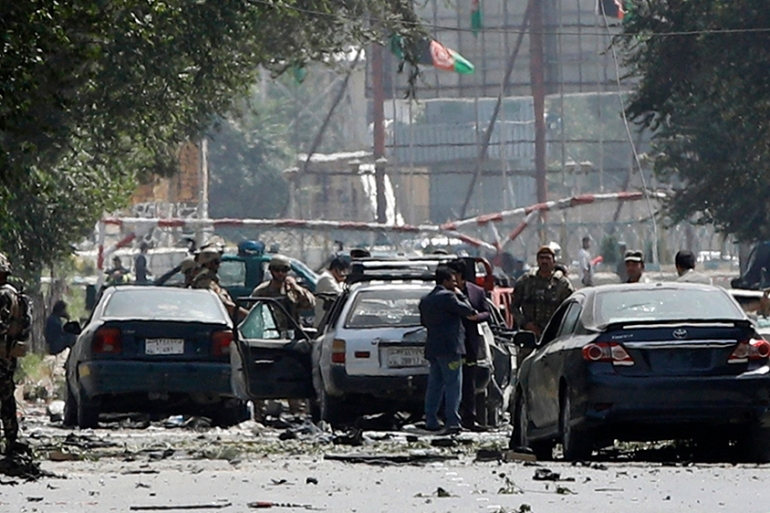 It was the second major blast in Kabul this week while a US envoy has been in town briefing officials on a US-Taliban deal [EPA]