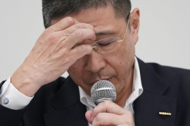 Hiroto Saikawa was the second CEO to be forced out of Japan's second-biggest carmaker, Nissan, because of questionable salary payments [Toru Hanai/Bloomberg]
