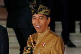In April's elections, Joko Widodo was returned to office with 55.5 percent of the vote [File: Willy Kurniawan/Reuters]