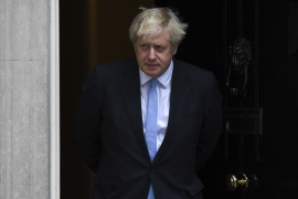 Johnson has pledged to take UK out of EU by October 31, with or without a divorce deal [File: Alberto Pezzali/AP]