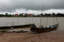 The Mekong River this year experienced historically low water levels [File: Soe Zeya Tun/Reuters]