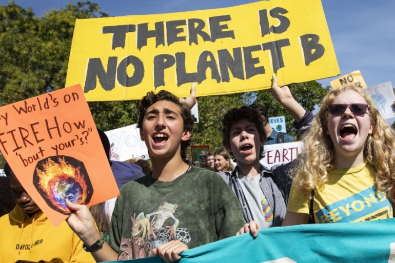 Mass, youth-led protests demanding action to address the climate crisis have taken place around the world [File: Samuel Corum/AFP]