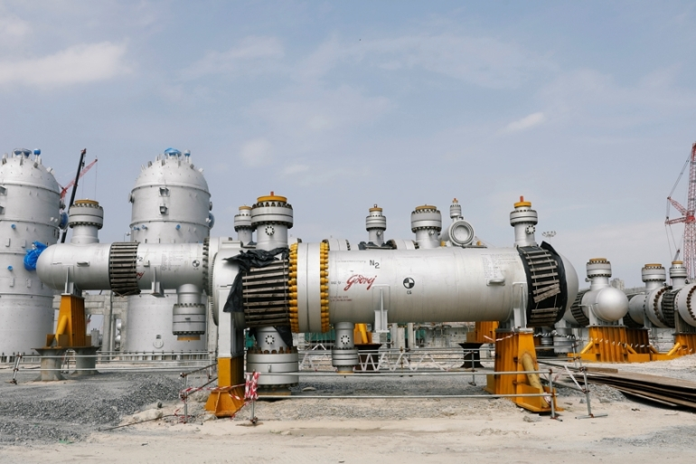 A view shows part of Dangote oil refinery in Ibeju Lekki district, on the outskirts of Lagos [File: Reuters]