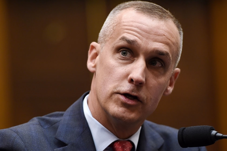 President Donald Trump's former campaign manager, Corey Lewandowski, testifies before the House Judiciary Committee as part of a congressional investigation of the Trump presidency [Olivier Douliery/AFP]