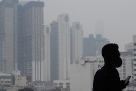 Malaysia's environment department reported 'unhealthy pollution' levels in five areas in Kuala Lumpur on Tuesday [Mohd Rasfan/AFP]